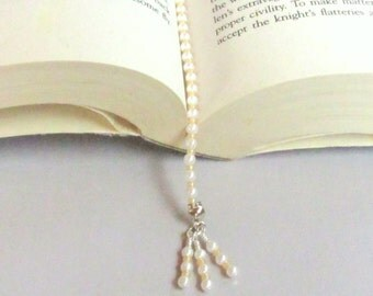 Book Thong, Beaded Book Thong, Handmade Book Thong, Back to School, Unique Book Thong, School Supply, Beaded Bookmark, Unique Bookmark