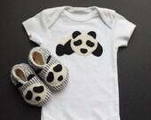 Baby Panda Layette, Panda Onesie,...