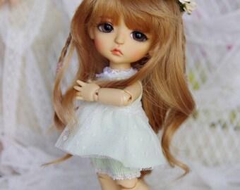 Lati Yellow/ Pukifee - Lace BabyDoll Rainbow Dress - Green Color