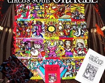 The Circus Soul Oracle (with custom hand-painted pouch and booklet, signed by the artist)