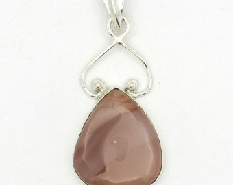 Enchanting! New Brown Imperial Jasper 925 Sterling Silver Pendant Jewelry A0494