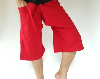 F30012 Thai fisherman /Yoga 3/4 pants Free-size: Will fit men or woman
