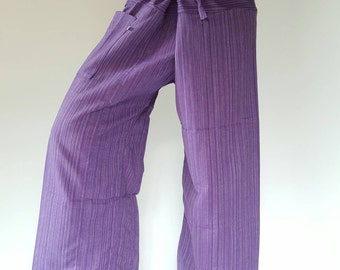 TCP0004 Purple fisherman pant thai yoga pant pants men's Fashion fit for all