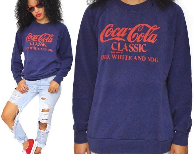 Vintage 80s Coca-Cola Classic Sweater Sz L
