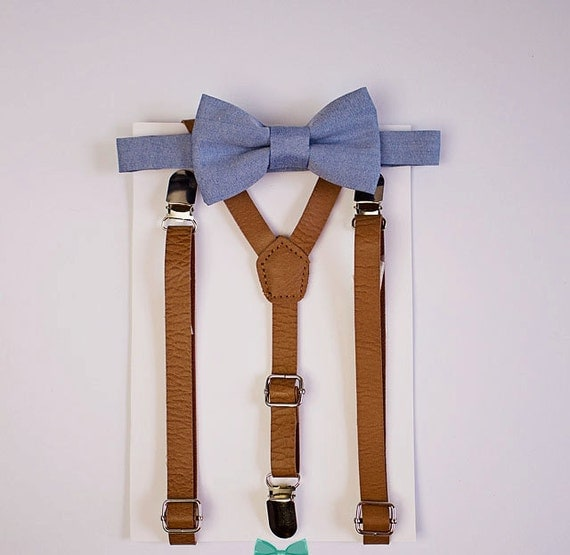 These little boys bow tie and suspenders set can be a perfect accessory Suspenders for Kids and Bow Tie Set Adjustable Leather Toddler Baby Suspenders for Boys and Girls. by CHORADE. $ $ 7 52 Prime. FREE Shipping on eligible orders. Some sizes/colors are Prime eligible. out of 5 stars