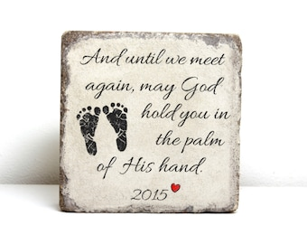 Miscarriage Memorial Stone. PERSONALIZED Gift. 6x6 Tumbled (Concrete) Paver. Baby Remembrance Stone. In loving memory gift. Infant Loss Gift