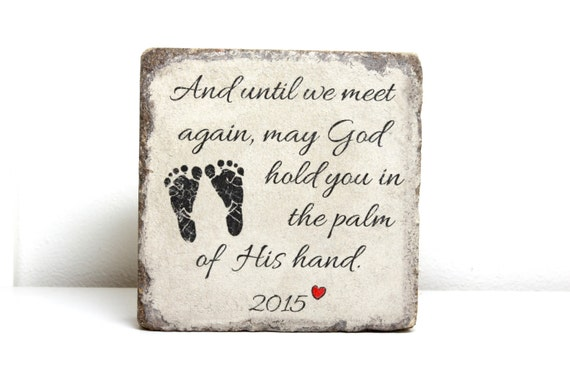 Miscarriage Memorial Stone Personalized Gift 6x6 Tumbled