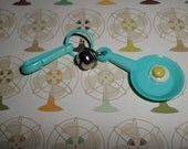 Plastic Bell Charms Vintage 80's Frying Pan with Egg SIZZLE