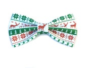 Ugly Christmas Sweater Bow Tie, Ugly Christmas, Holiday Bow Tie, Reindeer, Christmas Reindeer, Ugly Christmas Sweater Party