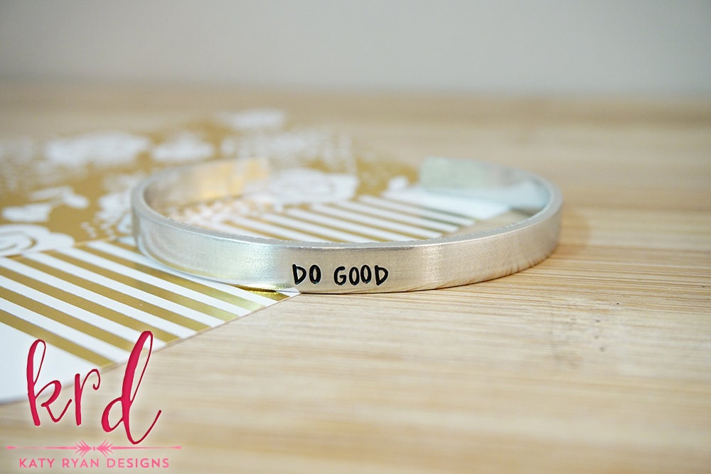 Do Good Cuff Bracelet - Daily Reminder - New Year New You ...
