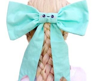 Big Hair Bows For Girls - Decora Fashion - Kawaii Hair Bow - Large Bow - Lolilta Hair Bow - Pastel Goth Hair Bow - Kawaii Hair Accessories