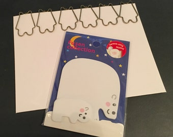 Cute Polar Bear with Mom and Baby Sticky Note Set SN1094PBST