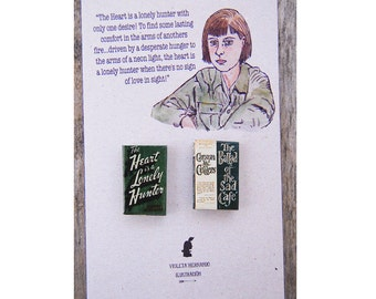 Carson Mccullers miniature book pins set