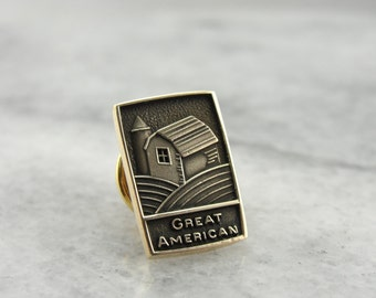 Great American, Men's Tie Tack from the Great American Insurance Company TV38JE-D