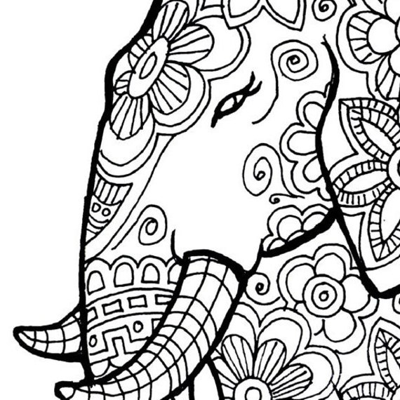 Genius image throughout elephant coloring pages printable