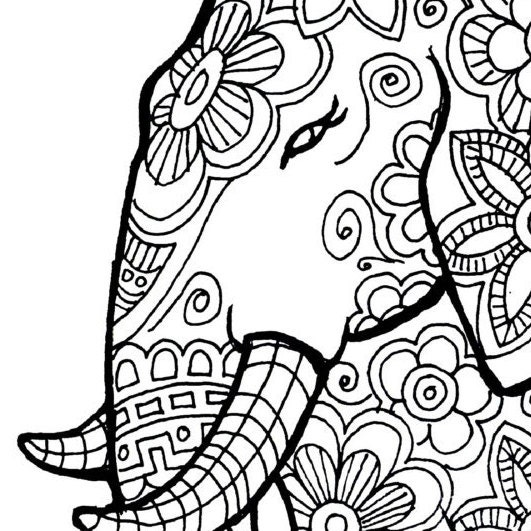 Free Printable Abstract Coloring Pages For Adults Color By Numbers ...
