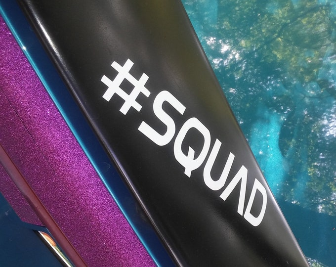 Saturn Hashtag Squad Vinyl Decal