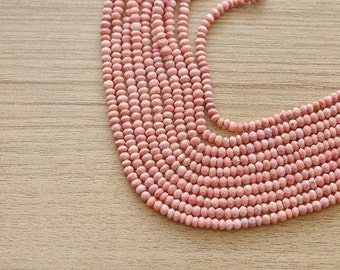 50 pcs of Faceted Pink Opal Gemstone Beads