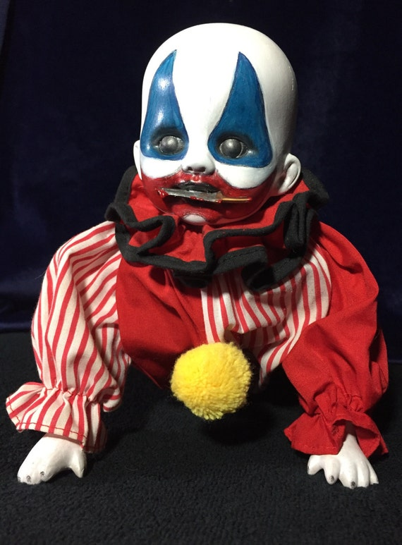 Baby Pogo The Clown Undead Porcelain Doll Blade In Mouth Serial Killer Culture XPW Gacy Biohazard Baby
