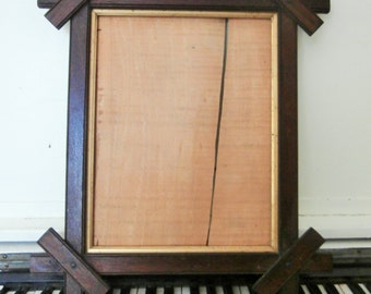 Vintage, Mission Style, Arts and Crafts, Oak, Wood, Picture Frame,
