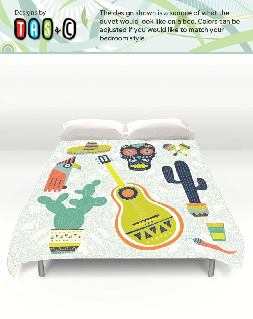 Lightweight Duvet Bedding Cover Mexican Theme Comforter By