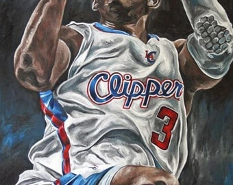 Chris Paul Los Angeles Clippers Painting and Glicee Prints