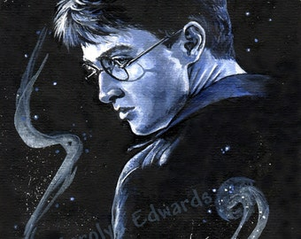 HARRY POTTER ~ 'Harry'. 4 x 6 inch Mounted Print