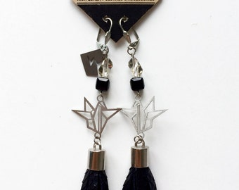 Origami Leather EARRINGS