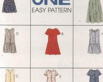 UNCUT 7731 McCalls Sewing Pattern Dress Jumpsuit Romper Size 10 12 14 Factory Folded