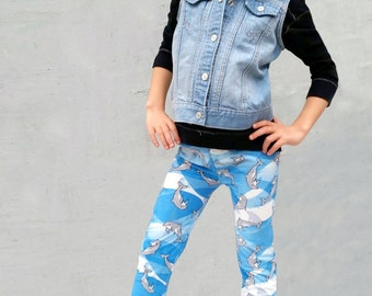Girls/Kids Dolphin Printed Leggings