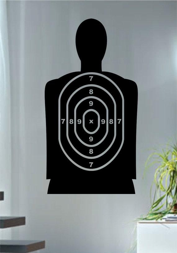 target shooting range decal sticker wall vinyl gun cool deign. Black Bedroom Furniture Sets. Home Design Ideas