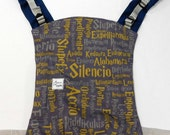 Buckle onbu baby carrier, Small Onbuhimo carrier, Linen Bucklebu, Back baby carrier, Harry Potter Ravenclaw Baby, Outdoor baby gear