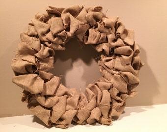 Tan Burlap Wreath
