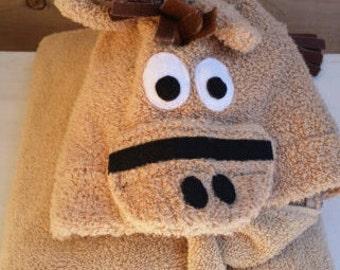 Horse Hooded Towel
