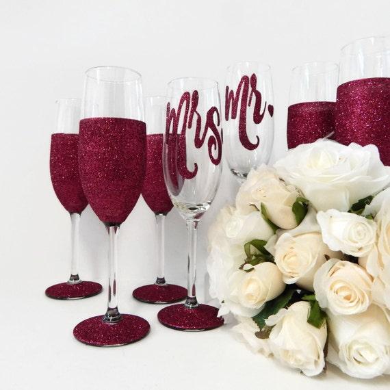 ... Wedding Glasses Made in Australia Ruby Wedding Glitter Glass Rio