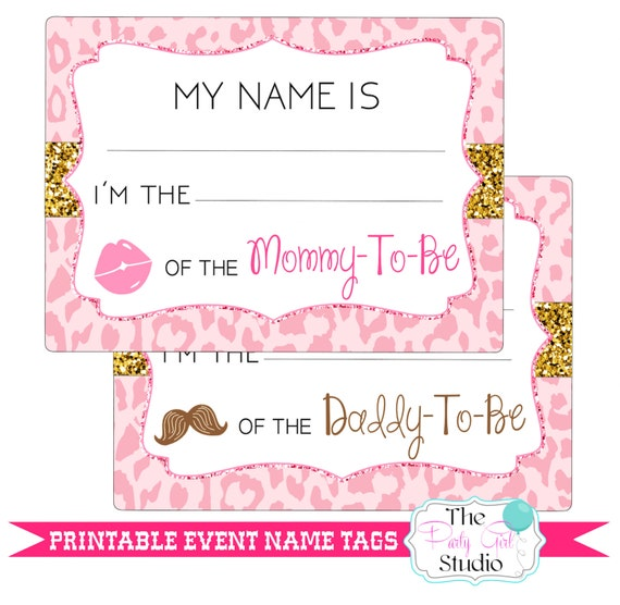 printable name tags event baby shower guest name tags digital file