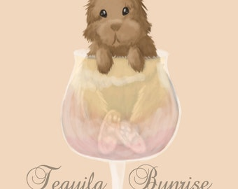 8x10 Tequila Bunrise Print