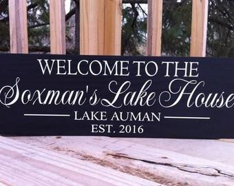Custom Lake House Signs, Lake House Decor, Personalized Lake House Sign, Personalized Cabin Signs, Cabin Decor, great lakes, River Signs