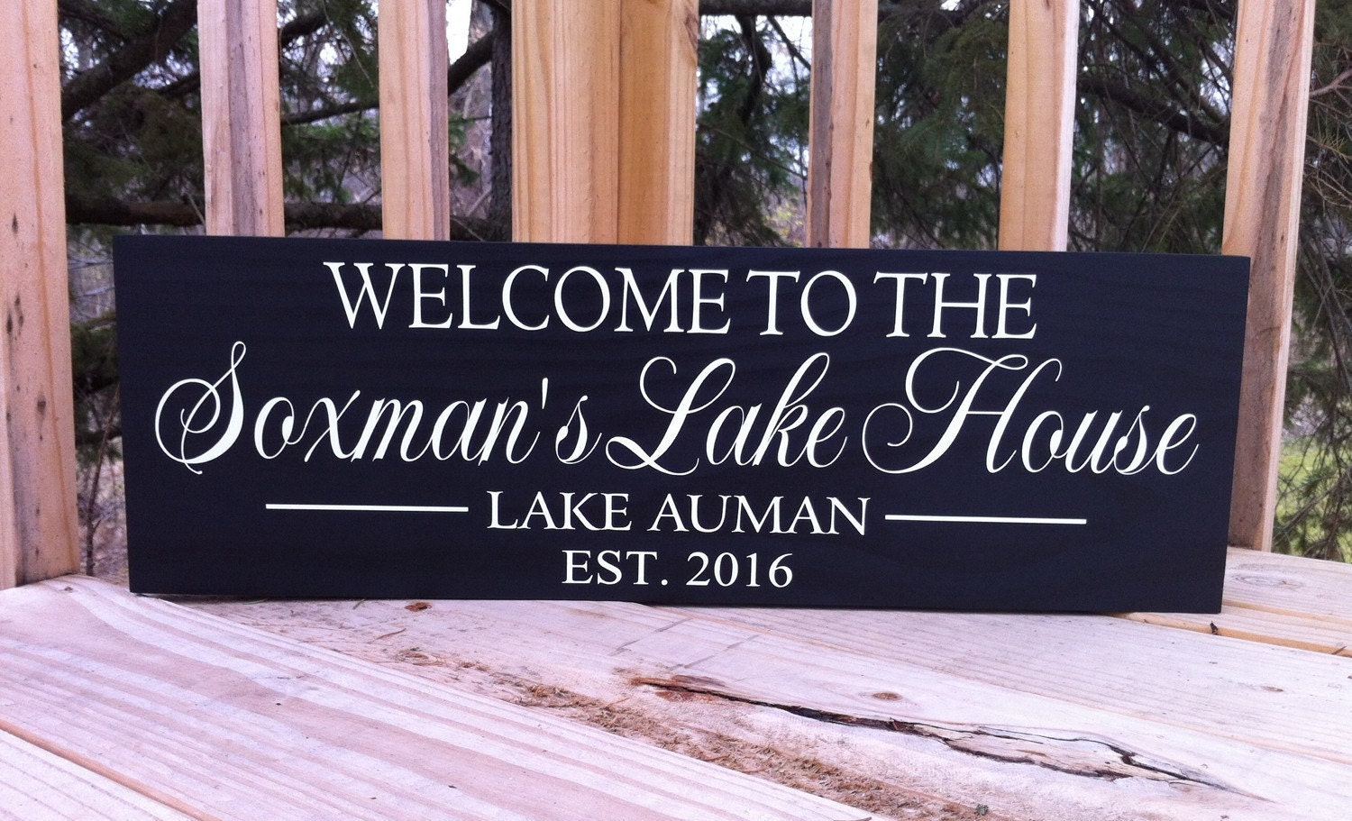 Custom Lake House Signs Lake House Decor Personalized Lake Home Decorators Catalog Best Ideas of Home Decor and Design [homedecoratorscatalog.us]