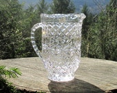 Action Industries 24% Lead Crystal Pitcher -Shamrock Pattern - Crystal Pitcher