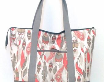 Tote Bag / Large Tote / Zippered Tote  /  Tote / Gym Bag / Travel Bag / Overnight Bag / Beach Bag / Weekend Bag /