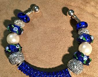 Blue Sparkly Bracelet