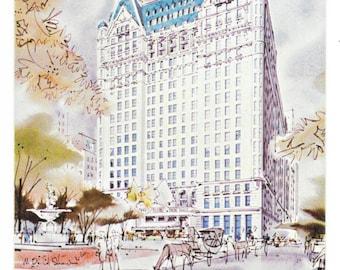 Plaza Hotel NYC Postcard, c. 1960