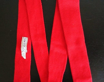 Oakton LTD Red Vintage 1980's Skinny Necktie Tie