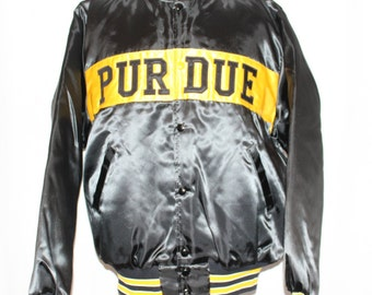 Vintage Purdue Boilermakers NCAA Satin Jacket L