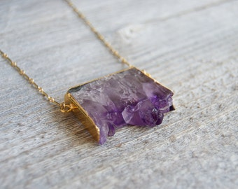 Amethyst Necklace » Amethyst Crystal » Amethyst Stone » Amethyst Jewelry » Crystal Necklace » Amethyst Pendant » Druzy