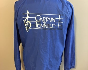 Vintage Captain & Tennille Blue Windbreaker, Size Small