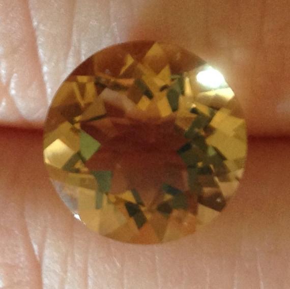 5.20 Carat Citrine Brilliant Natural Yellow Gemstone 12x12mm