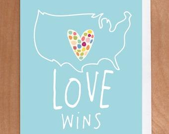 LOVE WINS A2 card (2-45C)