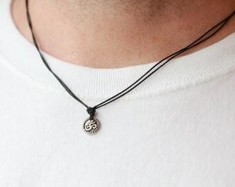 OM necklace for men ,OM Charm Necklace